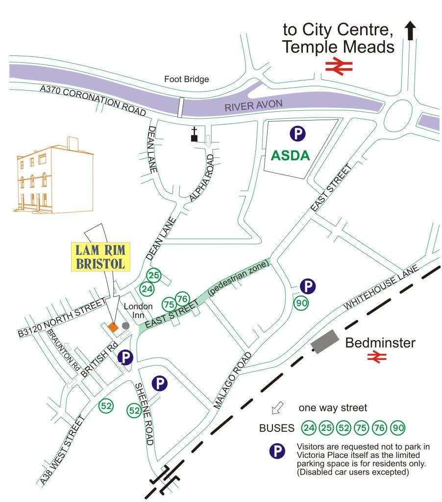 How to find Lam Rim Bristol Buddhist Centre
